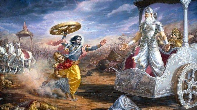 고대 핵전쟁 모습이 상세히 묘사됐다는 인도의 서사시, 마하바라타를 묘사한 그림. 해당 서사시는 우리의 단군신화와 같은 구전신화로 알려져있다.(사진=위키피디아)