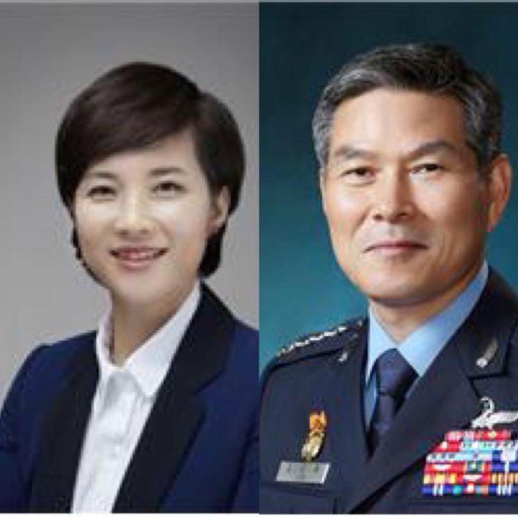 유은혜 교육부 장관 후보자(왼쪽), 정경두 국방부 장관 후보자.