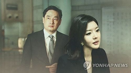강용석 변호사(좌)와 도도맘 김미나씨(우). 사진=연합뉴스