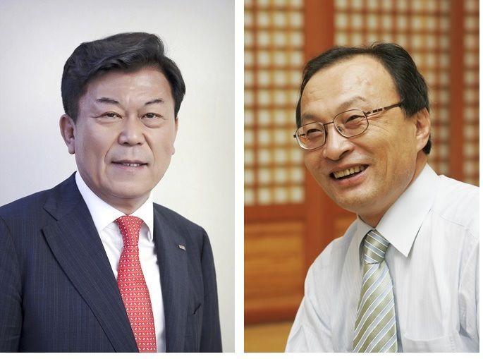 박성택 중소기업중앙회 회장(왼쪽)과 이해찬 더불어민주당 대표(오른쪽).