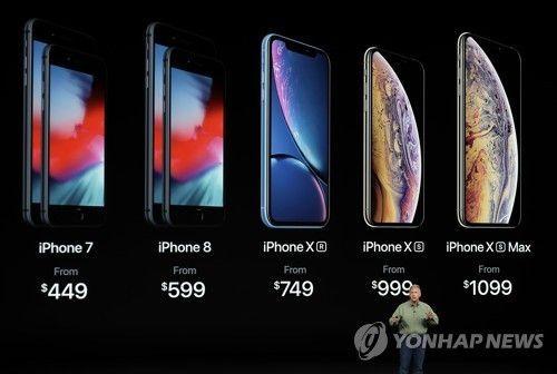 신형 아이폰 3종 가격.사진=연합뉴스