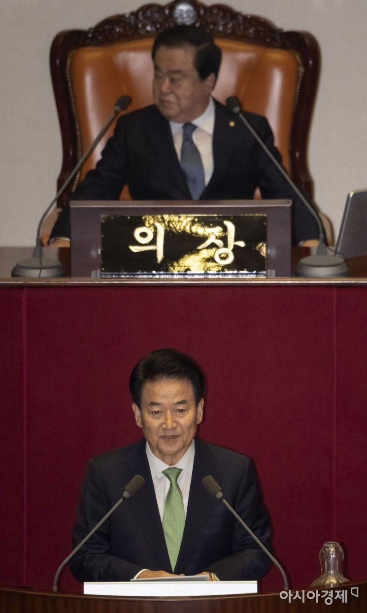 [포토] 정동영 대표, 비교섭단체 대표 연설