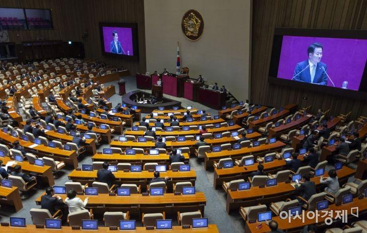 [포토] 대표연설하는 정동영 민주평화당 대표