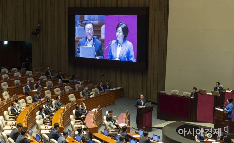 [포토] 대정부질문 출석한 김부겸 장관