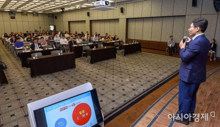 [포토]류재광 삼성생명 은퇴연구소 수석연구원 주제발표