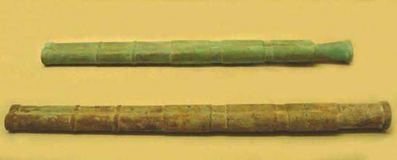 한번에 여러 화살을 쏘는 일발다전법(一發多箭法)에 활용된 쌍승자총통의 모습.(사진= 한국콘텐츠진흥원)