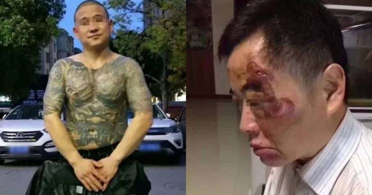 ▲ 조직 폭력배 류하이룽과 그를 살해한 시민 유하이밍