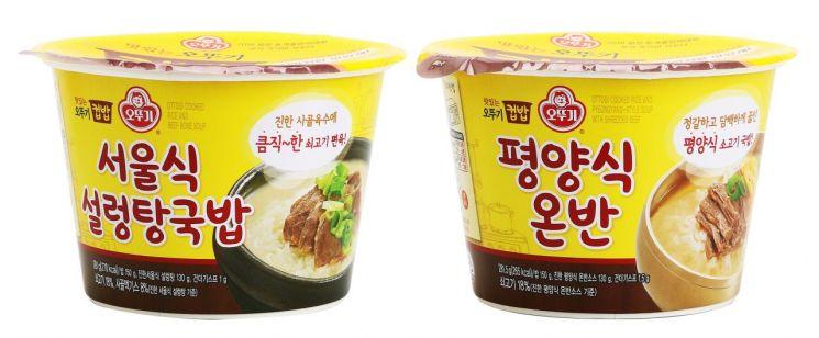 오뚜기, 남북한 대표 국밥 '서울식 설렁탕국밥'·'평양식 온반' 출시