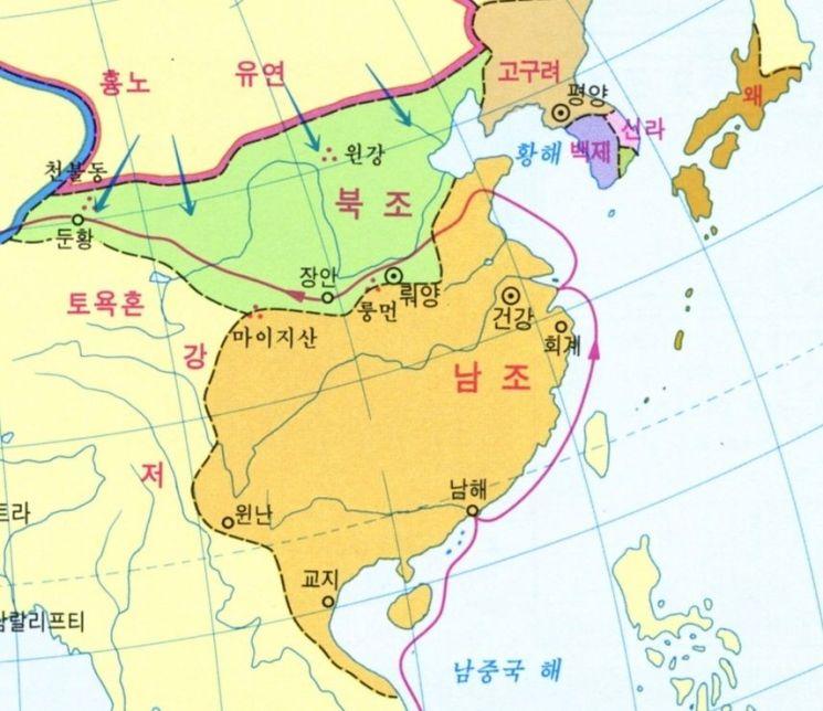 서기 4세기 5호16국의 난 이후 581년 수나라에 의해 통일될 때까지 무려 300년 가까이 이어졌던 중국의 남북조시대는 춘추전국시대와 함께 중국 역사상 대혼란기로 기록돼있다. 진경지가 활약하던 시대, 남조의 양나라는 훨씬 국력이 강한 북위를 상대로 수많은 승리를 거뒀고, 진경지의 북벌 이후 북위는 크게 약해져 끝내 멸망하게 된다.(자료=위키피디아)