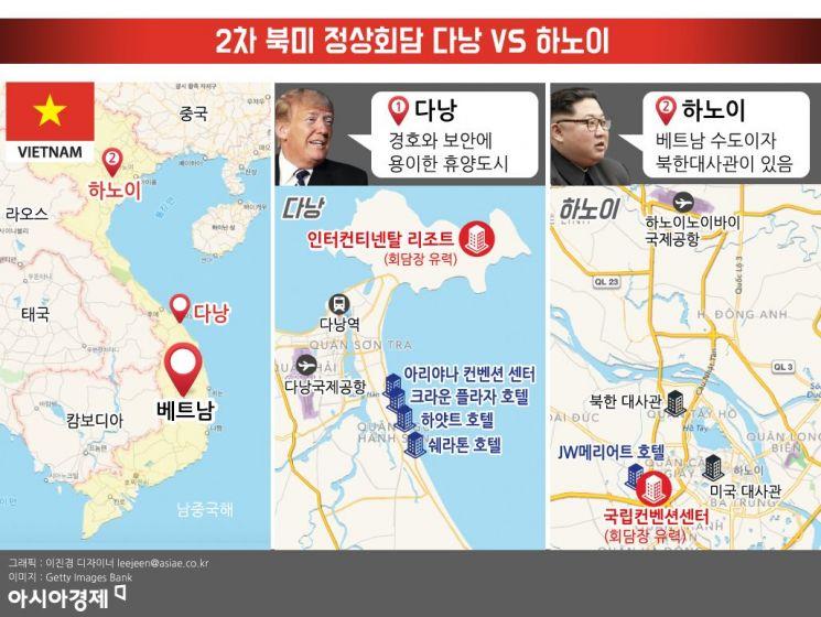 [인포그래픽]2차 북미 정상회담 다낭 VS 하노이