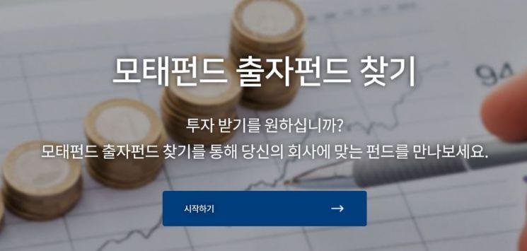 '모태펀드 출자펀드 찾기' 사이트 열려…기업 맞춤형 펀드 제안