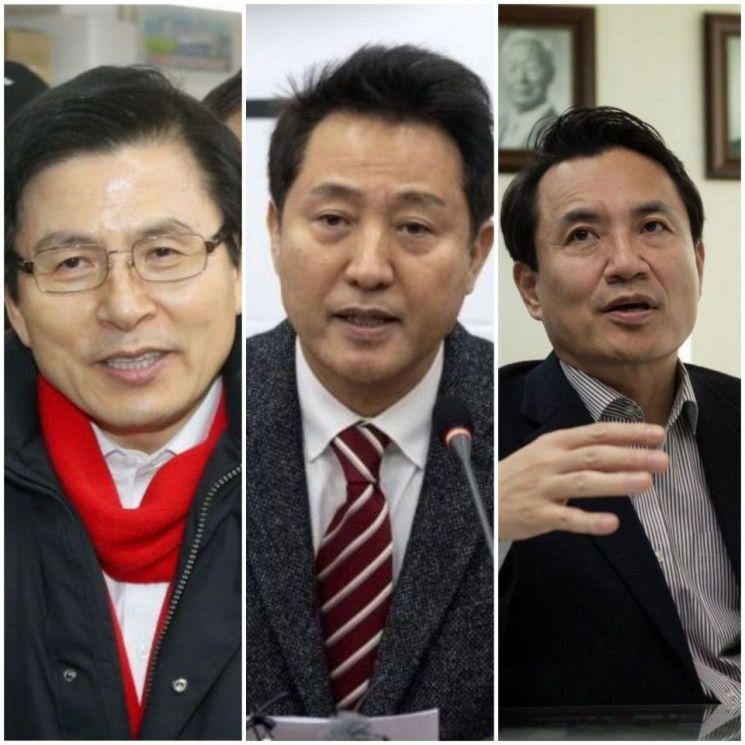 한국당 전당대회 후보 등록 마감…黃vs吳vs金 3파전