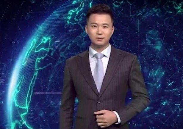 중국 관영 신화왕이 지난 19일 신샤오멍과 함께 선보인 AI 합성 남성 아나운서 추하오의 신버전인 신샤오하오(사진=신화왕).