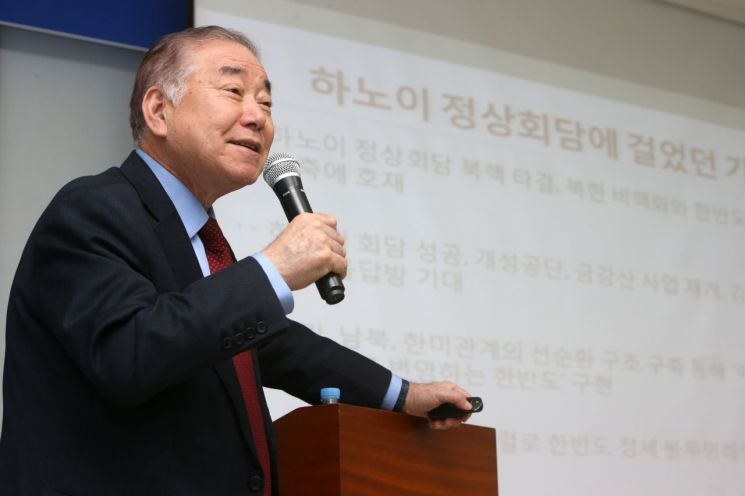 """문정인 """"이제 북한이 미국을 움직일 행동 보여줄 차례"""""""