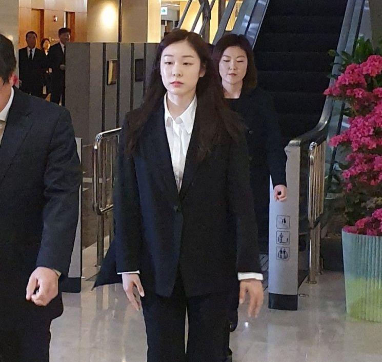 """'평창 인연' 김연아, 故조양호 조문…""""한국동계스포츠에 헌신"""""""