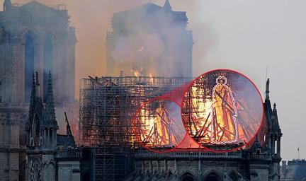 '노트르담 대성당' 화재두고 예수 목격담에 각종 '음모론' 번져