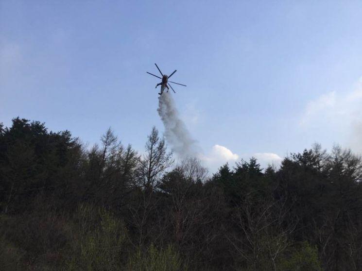 연천군 비무장지대 산불 21시간 만에 주불 잡혀…약 450㏊ 소실 추산