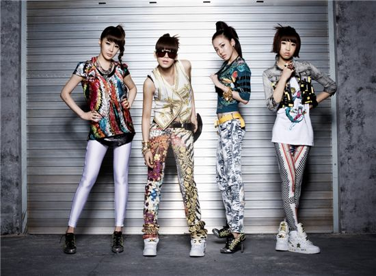 From left, members of 2NE1 Bom, CL, Dara and Minzy. [YG Entertainment]