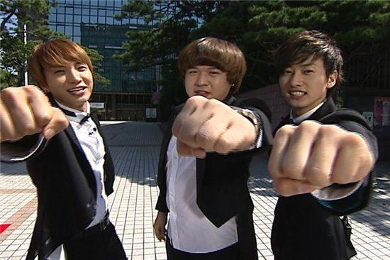 From left, Super Junior members Leeteuk, Shindong, Eunhyuk [MBC]