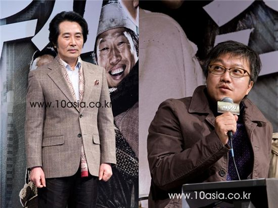 Actor Baek Yoon-shik (left) and director Choi Dong-hoon. [Chae Ki-won/10Asia]