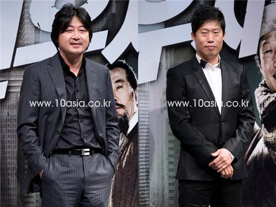Actors Kim Yoon-suk (left) and Yoo Hae-jin. [Chae Ki-won/10Asia]