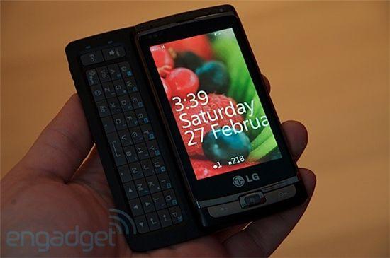 엔가젯 행사에서 공개된 LG전자의 윈도폰7