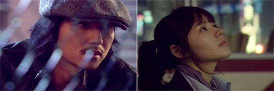 """Actors Kim Nam-gil (left) and Han Ga-in in """"Bad Guy"""" [Good Story]"""
