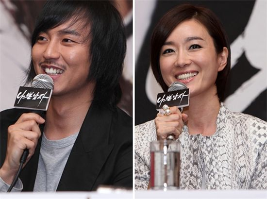 Actor Kim Nam-gil (left) and actress Oh Yeon-soo [Good Story]