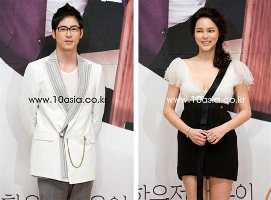 "Cast of SBS' ""Coffee House"" Kang Ji-hwan (left) and Park Si-yeon (right) [Chae Ki-won/10Asia]"