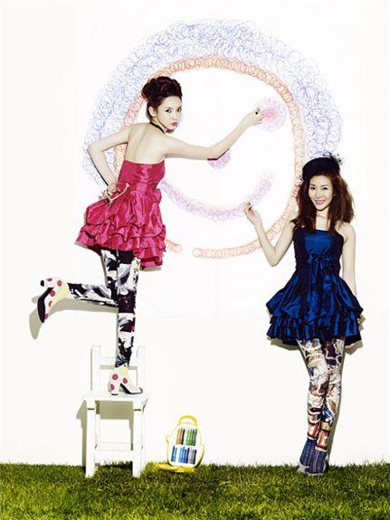 Korean female duo Davichi [Core Contents Media]