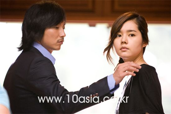"Actors Kim Nam-gil (left) and Han Ga-in in TV series ""Bad Boy"" [photographed by Chae Ki-won/10Asia]"