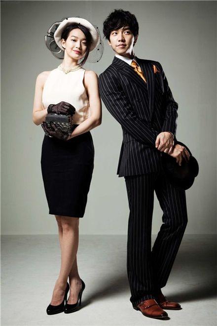 Korean actress Shin Min-ah (left) and Lee Seung-gi (right) [SBS]