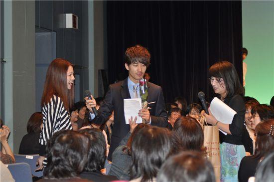 Korean actor Park Jae-jung at his fan meeting in Japan on October 9. [Eyagi Entertainment]