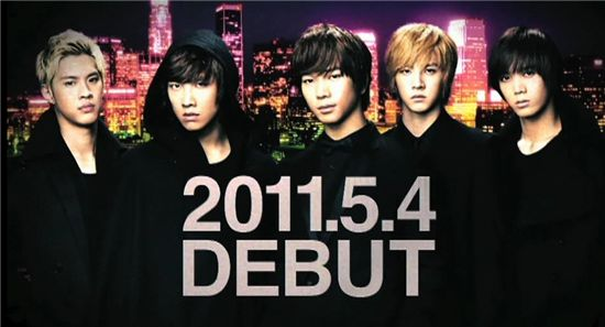 Debut date of MBLAQ's debut into Japan. [MBLAQ's official Japanese website]