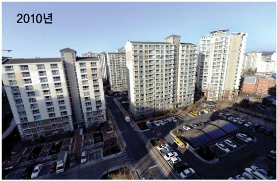 LH공사는 아파트의 질을 높여 임대주택에 새로운 시대를 개막했다. 판교 임대주택단지전경.