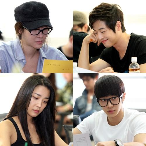 """Flower, Me Too"" cast (from top left to right) E Ji-ah, Kim Jae-won, Ha Go-eun and BEAST's Gi-kwang [MBC]"