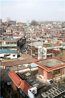 현재 재개발을 진행 중에 있는 서울시 내 정비사업지 전경.