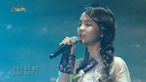 ▲ 송소희 홀로아리랑. (출처: 불후의 명곡 방송영상 캡처)