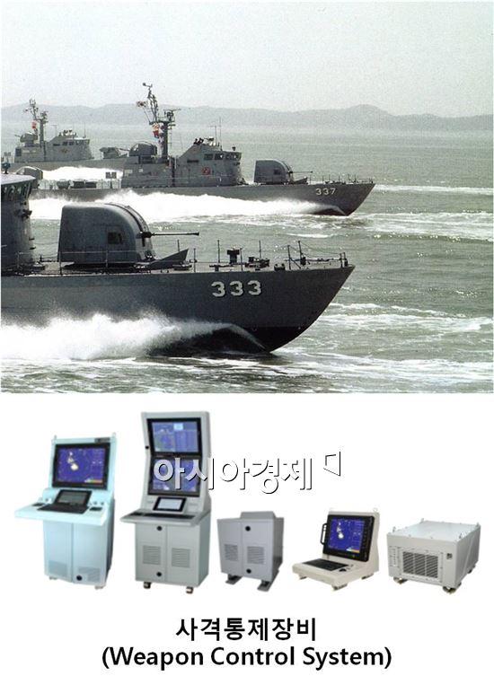 해군을 비롯해 해양경찰청에도 납품하고 있는 휴니드의 사격통제장비