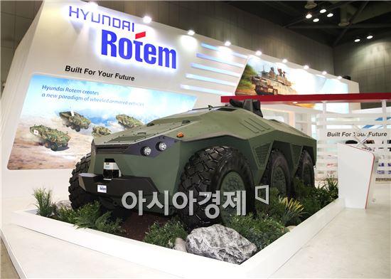 지난해 '서울 국제항공우주 및 방위산업전시회(서울ADEX)'에 참가한 현대로템의 신형전투차량. 사진은 기사와 관련없음.