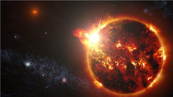 [과학을 읽다]태양보다 1만배 빛난 왜성…눈부시다