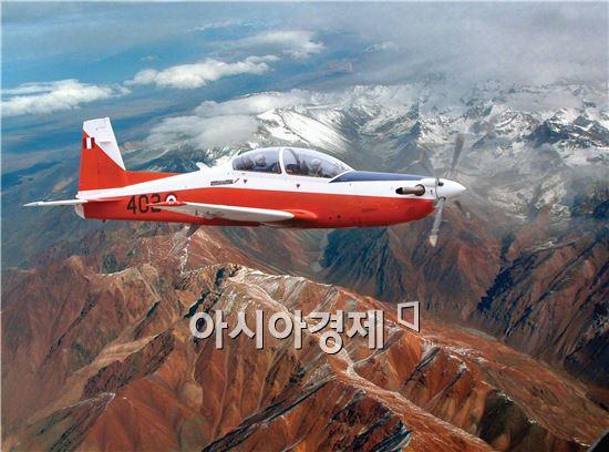 페루에 수출된 KT-1 기본훈련기라는 뜻으로 'KT-1P'로 명명했다. (사진제공=KAI)