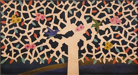 나무에 새긴 새와 가족 그리고 아름드리 거목 - 아시아경제