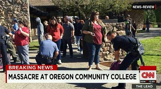 미국 대학 총기난사 사고. 사진=CNN 뉴스 캡처