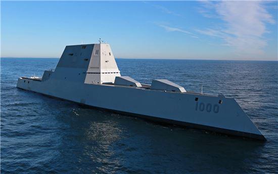 미국의 차세대 구축함 줌월트(USS Zumwalt) <사진출처=미해군>