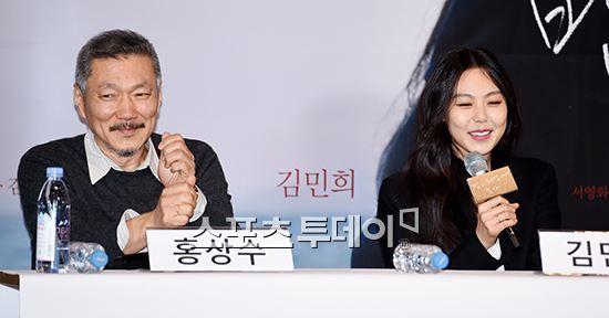 홍상수 감독과 배우 김민희. 사진=스포츠투데이 제공