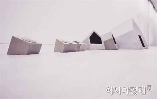 사진=은영상 씨가 만든 고양이 집과, 밥그릇 모습.