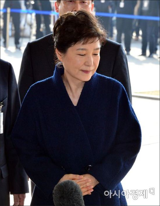 [포토]눈 감은 박근혜 전 대통령
