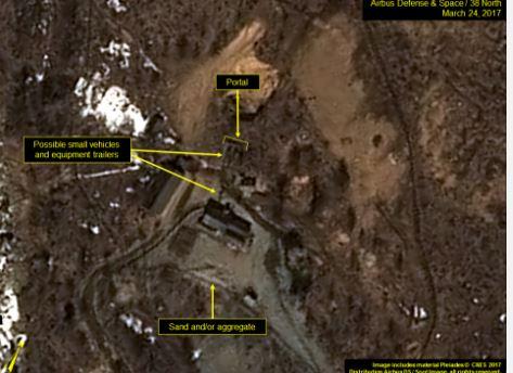 38노스가 25일(현지시간) 공개한 북한 풍계리 인근 위성사진. (사진=38노스 홈페이지 캡처)