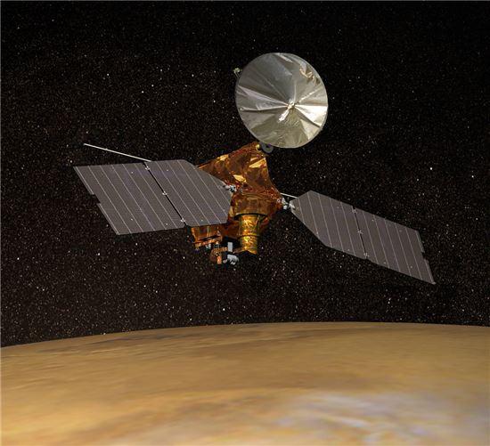 ▲화성궤도 탐사선인 MRO가 지난 27일 화성을 5만 번 공전하는데 성공했다.[사진제공=NASA]